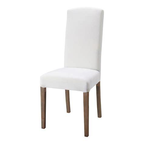 chaise en tissu chaise en tissu et bois blanche maisons du monde