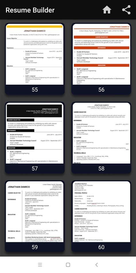 resume builder free cv maker templates formats app for
