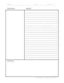 Cornell Notes Format Template