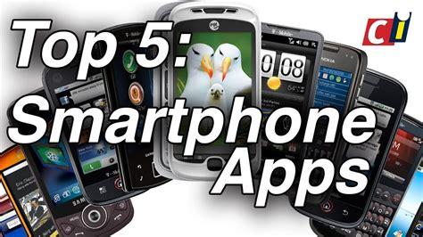 top 5 smartphone apps youtube