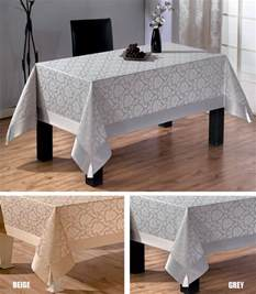 extra large luxury polycotton tablecloths in grey or beige 160 x 320cm ebay