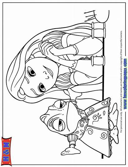 Rapunzel Pascal Tangled Coloring Pages Disney Colouring