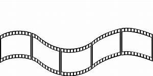 Film strip movie reel vector clipart - Clipartix
