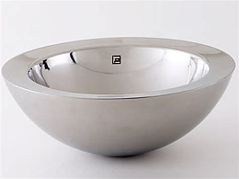 stainless steel vessel sink decolav double wall stainless steel vessel large rim