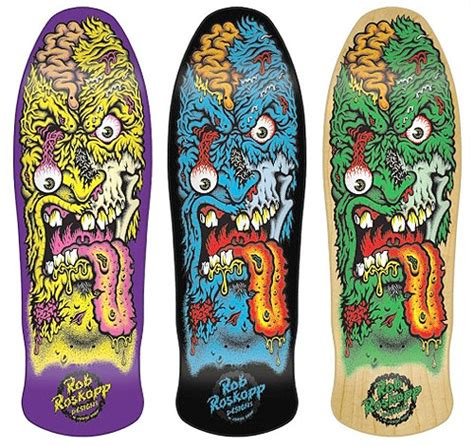 rob roskopp skateboard graphics santa rob roskopp mini re issue deck from 1989