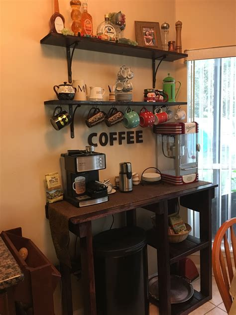 Creating a coffee station even in small kitchens, has its perks. Coffee Station   Liquor cabinet, Decor, Coffee station