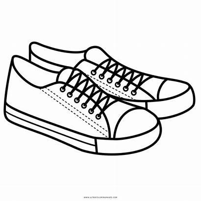 Scarpe Sneakers Colorare Shoe Colorear Zapatillas Disegno