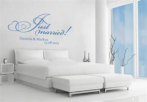 Wandtattoo Wall Art : wandtattoo name just married wall ~ Sanjose-hotels-ca.com Haus und Dekorationen