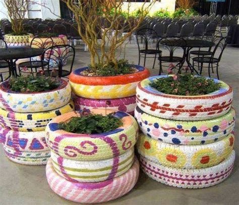 garden decoration using tyres ideas to decorate the garden using used tyre upcycle
