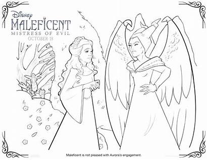 Maleficent Coloring Sheets Evil Mistress Printable Activity