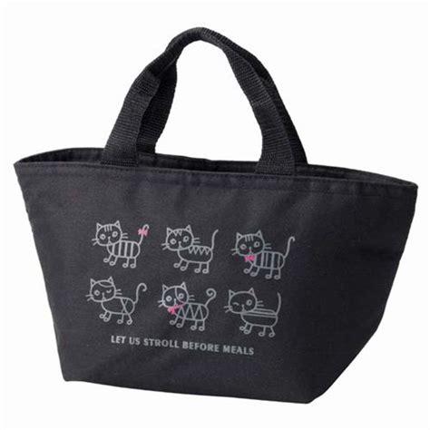 sac repas bureau sac repas isotherme à bento noir avec des chats et un