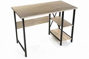 Bureau Bois Metal : bureau pliable industriel bois et m tal moneva bureau pas cher ~ Teatrodelosmanantiales.com Idées de Décoration