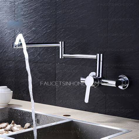 Mounted Faucet Kitchen by Best Wall Mounted Folding Modern Kitchen Faucet Chrome