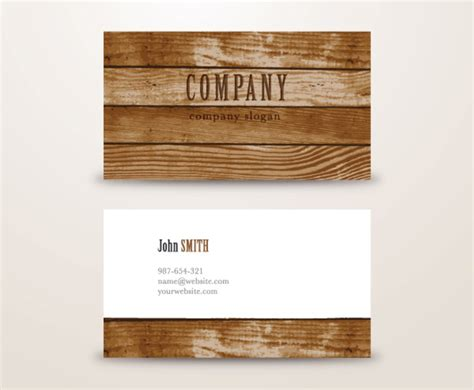 Wooden Background Business Card Vector Art & Graphics