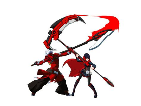 ruby rose vs ragna ruby rose and ragna the bloodedge render by epiclinksam on