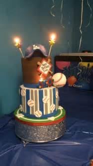 birthday cake dodgers baseball  year  party