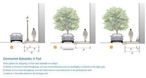 constrained sidewalks sf  streets