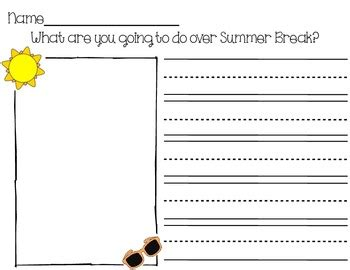 summer writing prompt by mrsmattesonsmunchkins tpt