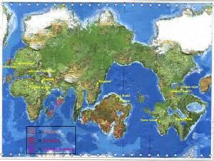 Atlantis and Lemuria Map