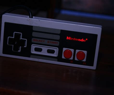 Nes Controller With Leds Lighting Up The Logo 2