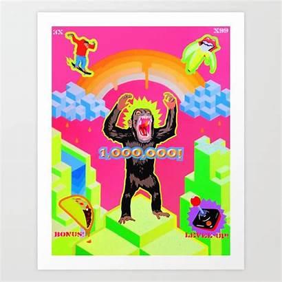Ape Escape Society6 Artwork