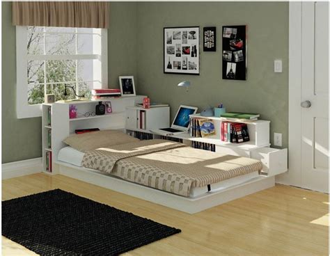 platform bed bookcase headboard woodworking projects plans