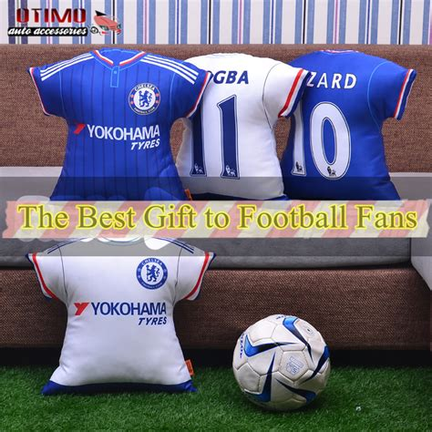 gifts for soccer fans football fan car seat cushion chelsea jersey shape pillow