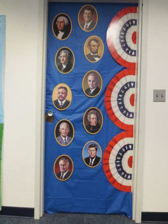 president s day door decoration door and wall