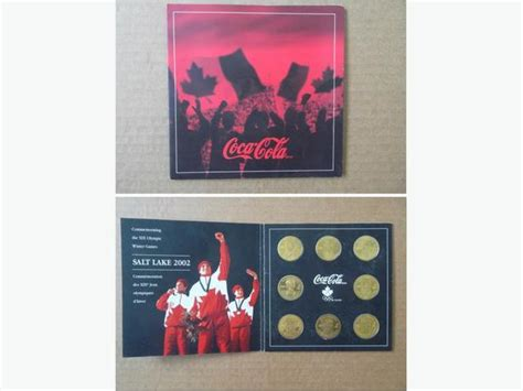 coca cola here team phone number 2002 team canada olympic hockey team coin set by coca cola
