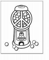 Coloring Pages Peace Gumball Machine Printable Sign Template Outline Empty Print Sheet Pdf sketch template