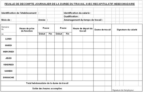 modèle de lettre pour paiement repos compensateur modele fiche de presence hebdomadaire document