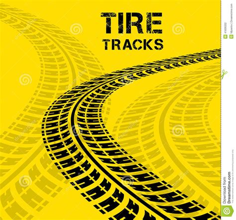 tire tracks stock vector illustration  painting dirt