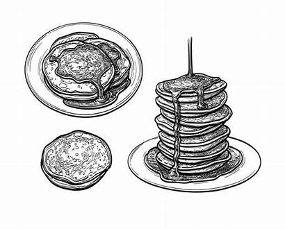 Pancakes Stack Clip Illustrations Vector