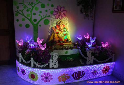 inspirational ganpati decoration ideas  home