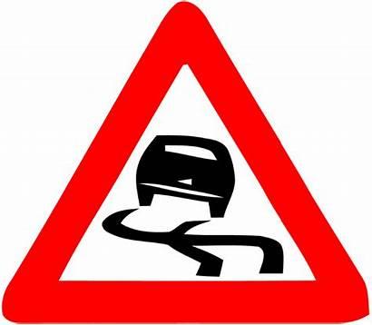 Road Danger Dangerous Clipart Slipping Signs Israel