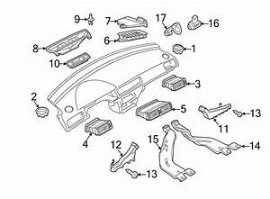 Volkswagen Passat Windshield Defroster Nozzle  Upper   Left  Vent - 56181970582v