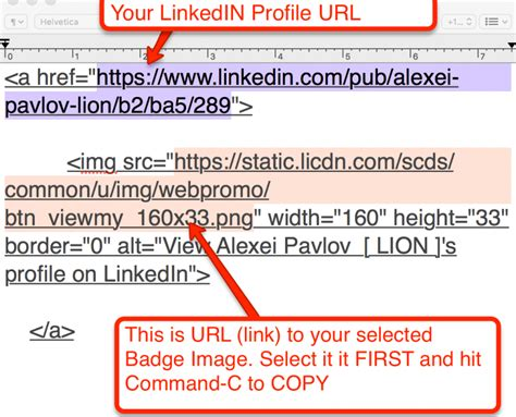 how to add linkedin profile badge to gmail signature