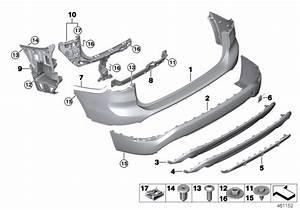 Bmw X1 Trim Panel  Bumper  Rear  Bottom  Lines 2