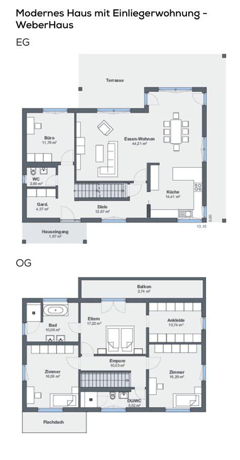 Grundrisse Einfamilienhaus Mit Garage by Grundriss Einfamilienhaus Mit Garage Einliegerwohnung In