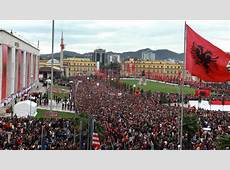 BBC News In pictures Albanians celebrate independence