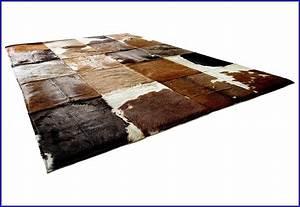 Kuhfell Teppich Imitat Schwarz Teppiche Hause