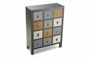 Commode 12 Tiroirs : commode 12 tiroirs color s en bois noire elsa meuble de rangement pas cher ~ Teatrodelosmanantiales.com Idées de Décoration