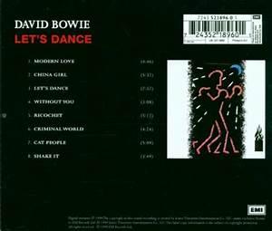David Bowie Album: «Let's Dance [ECD]»
