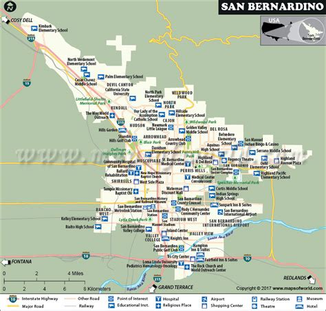 san bernardino city map california