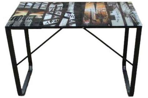 table bureau verre chauffage climatisation plateau de verre pour bureau