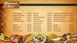 best photos of mexican restaurant menu template blank With resturant menu templates