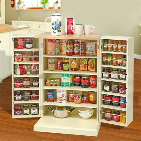 Kitchen Pantry Cabinet Review by Country Kitchen Freestanding Pantry Cabinet Clifford