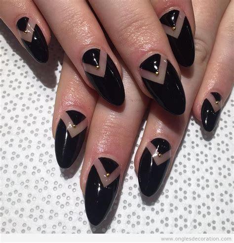 deco ongle noir et or noir d 233 coration d ongles nail