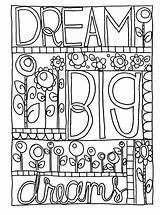 Coloring Pages Doodle Dream Sharpie Printable Adult Journal Colouring Sheets Books Adults Kid Bullet Google Nice Quote Bestcoloringpagesforkids Patterns Toddler sketch template