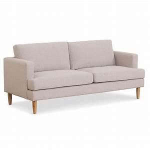 canape 3 places design quotelenaquot 195cm tissu beige With elena canapé d angle réversible modulable 3 places